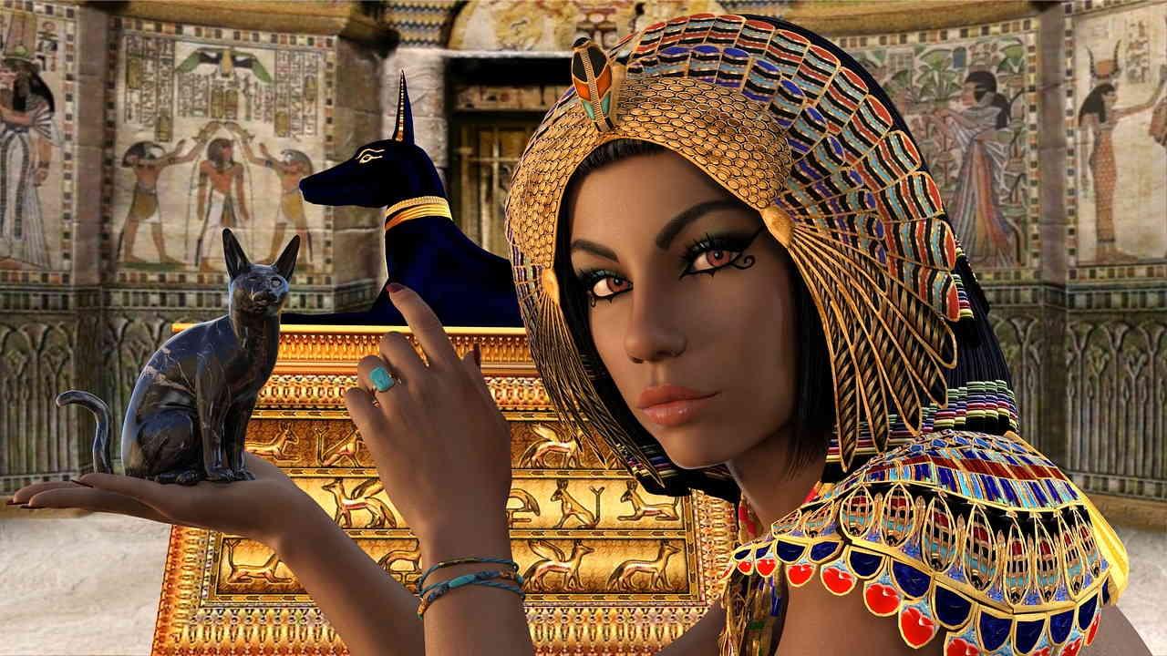 Египет, Женщина, Королева, Нефертити, Клеопатра, Анубис